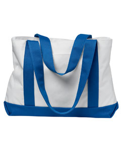 White/royal P & O Cruiser Tote