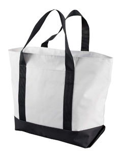 White/black Bay View Giant Zippered Boat Tote