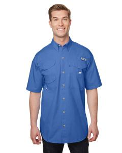 Vivid Blue Men's Bonehead™ Short-Sleeve Shirt