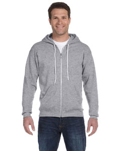 Heather Grey Ringspun Full-Zip Hooded Sweatshirt