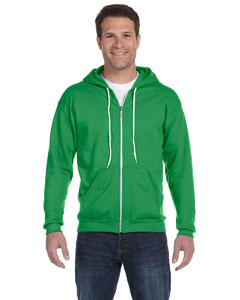 Green Apple Ringspun Full-Zip Hooded Sweatshirt