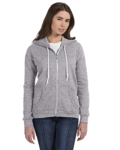 Heather Grey Women's Ringspun Full-Zip Hooded Sweatshirt