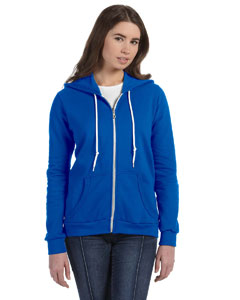 Royal Blue Women's Ringspun Full-Zip Hooded Sweatshirt