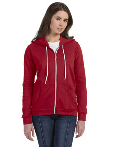 Independence Red Women's Ringspun Full-Zip Hooded Sweatshirt