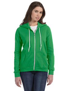 Green Apple Women's Ringspun Full-Zip Hooded Sweatshirt