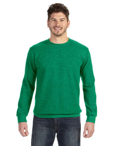 Heather Green Ringspun French Terry Crewneck Sweatshirt