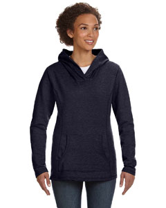 Navy Women's Ringspun French Terry Crossneck Hooded Sweatshirt