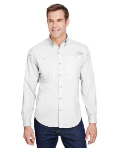 White Mens Tamiami II Long-Sleeve Shirt
