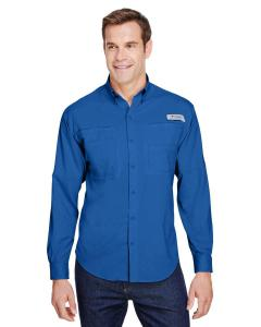 Vivid Blue Mens Tamiami II Long-Sleeve Shirt