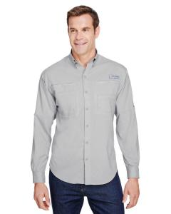 Cool Grey Mens Tamiami II Long-Sleeve Shirt