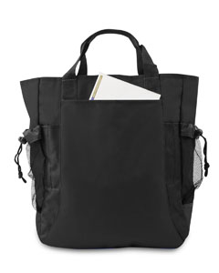 Black/ Black Backpack Tote