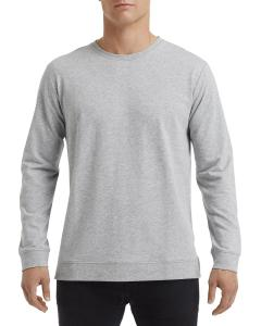 Heather Grey Unisex Light Terry Crew