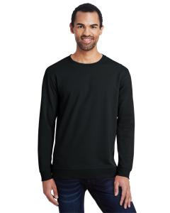 Black Unisex Light Terry Crew