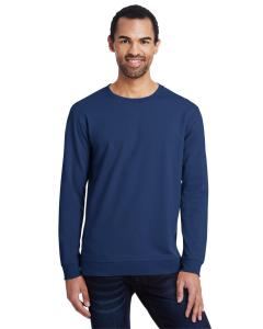 Navy Unisex Light Terry Crew