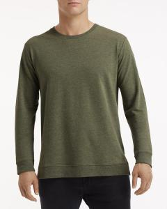 Hthr City Green Unisex Light Terry Crew