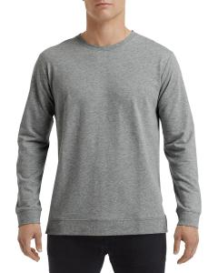 Heather Graphite Unisex Light Terry Crew