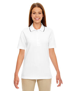 White 701 Edry® Ladies' Needle-Out Interlock Polo