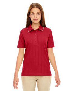 Crimson 780 Edry® Ladies' Needle-Out Interlock Polo