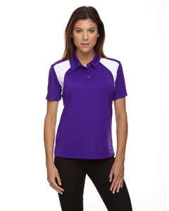 Campus Prple 427 Eperformance™ Ladies' Colorblock Textured Polo