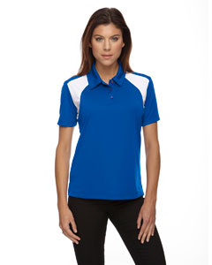 True Royal 438 Eperformance™ Ladies' Colorblock Textured Polo