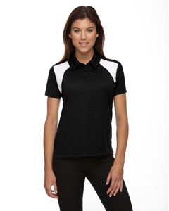 Black 703 Eperformance™ Ladies' Colorblock Textured Polo