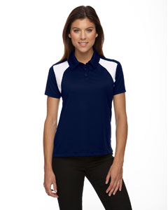 Classic Navy 849 Eperformance™ Ladies' Colorblock Textured Polo
