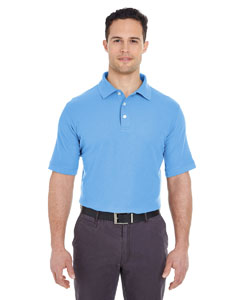 Bimini Blue Men's Platinum Honeycomb Pique Polo