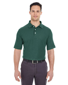 Forest Green Men's Platinum Honeycomb Pique Polo