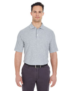 Heather Grey Men's Platinum Honeycomb Pique Polo