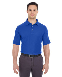 Royal Men's Platinum Honeycomb Pique Polo