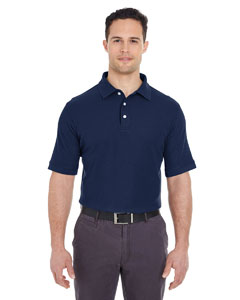 Navy Men's Platinum Honeycomb Pique Polo