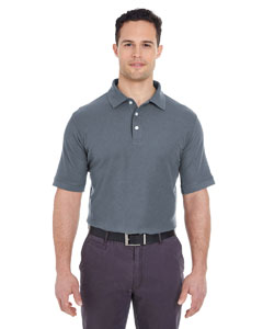 Charcoal Men's Platinum Honeycomb Pique Polo