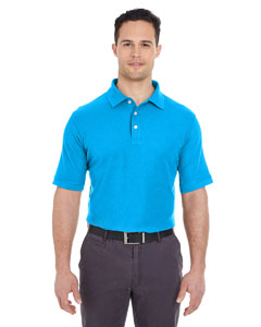 Coast Men's Platinum Honeycomb Pique Polo