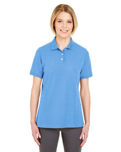 Bimini Blue Ladies' Platinum Honeycomb Pique Polo