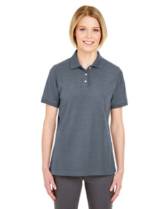 Charcoal Ladies' Platinum Honeycomb Pique Polo