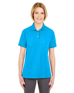 Coast Ladies' Platinum Honeycomb Pique Polo