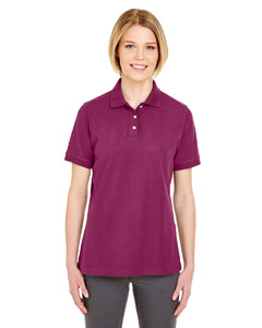 Wine Ladies' Platinum Honeycomb Pique Polo