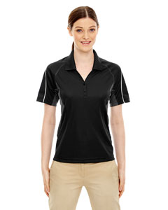 Black 703 Eperformance™ Ladies' Parallel Snag Protection Polo with Piping