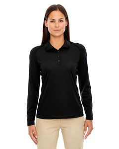 Black 703 Eperformance™ Ladies' Armour Snag Protection Long-Sleeve Polo