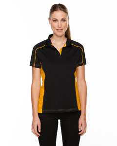 Blk/cmps Gld 464 Eperformance™ Ladies' Fuse Snag Protection Plus Colorblock Polo
