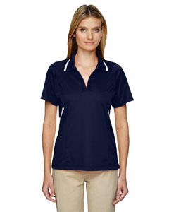 Classic Navy 849 Eperformance™ Ladies' Propel Interlock Polo with Contrast Tape