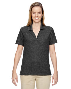 Black 703 Ladies' Excursion Nomad Performance Waffle Polo