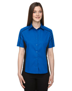 True Royal 438 Ladies' Fuse Colorblock Twill Shirt