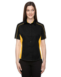 Blk/cmps Gld 464 Ladies' Fuse Colorblock Twill Shirt