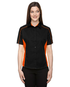 Black/ Ornge 468 Ladies' Fuse Colorblock Twill Shirt