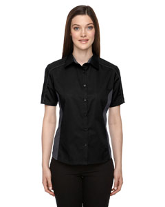 Black 703 Ladies' Fuse Colorblock Twill Shirt