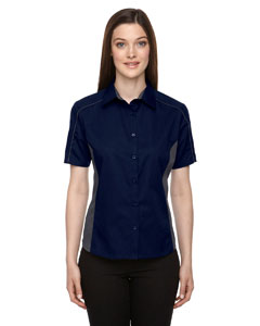 Classic Navy 849 Ladies' Fuse Colorblock Twill Shirt