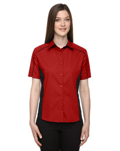 Classic Red 850 Ladies' Fuse Colorblock Twill Shirt