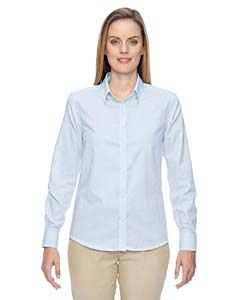 Light Blue 708 Ladies' Paramount Wrinkle-Resistant Cotton Blend Twill Checkered Shirt
