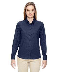Classic Navy 849 Ladies' Paramount Wrinkle-Resistant Cotton Blend Twill Checkered Shirt